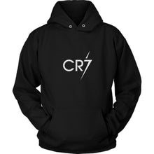 Load image into Gallery viewer, Cristiano Ronaldo Black Football Hoodie Unisex