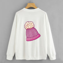 Load image into Gallery viewer, Woolly Hat Sweat Shirt For Women-Cotton-Splash Colours