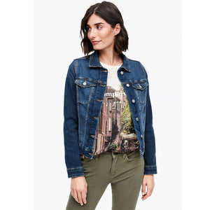 Slim Fit Denim Jacket For Women