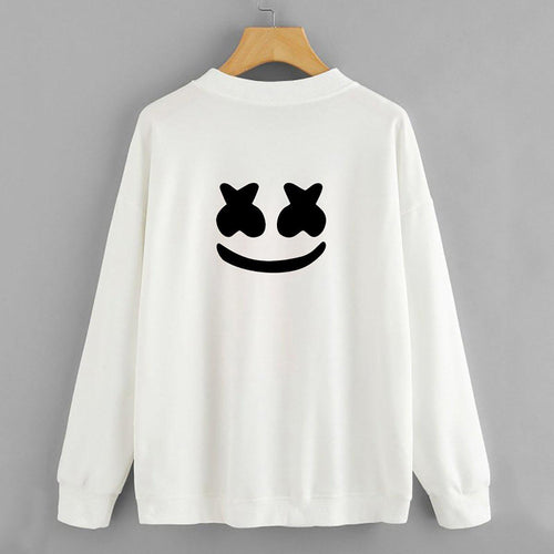 MARSHMELLO Black/White Sweatshirt For Womens-Cotton-Splash Colours