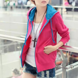 Pink Hoodie With Blue Touch-Splash Colours