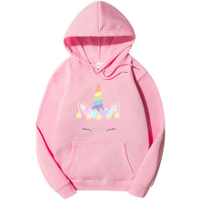 Load image into Gallery viewer, Unicorn Hoodie For Women-Cotton-Splash Colours