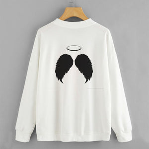 Angel Wings Sweat Shirt For Women-Splash Colours