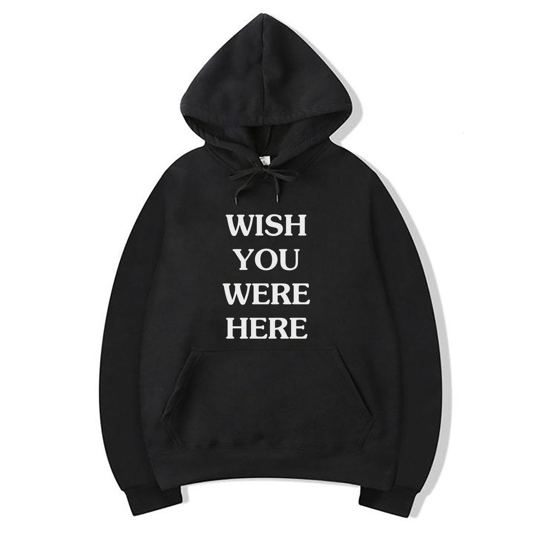 Wish You Were Here Hoodie For Women-Cotton-Splash Colours