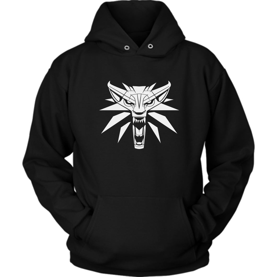 Witcher Wolf Black Hoodie-Splash Colours