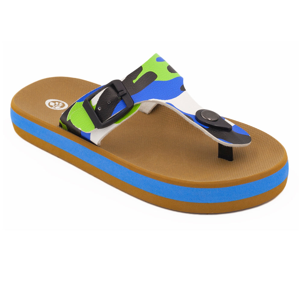 'Camo Blue', Flips Pods Kidz in T-strap design