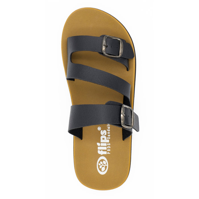 'Charcoal', Flips Pods Sandals in Z-strap design