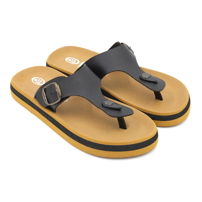 'Charcoal', Flips Pods Sandals in T-strap design