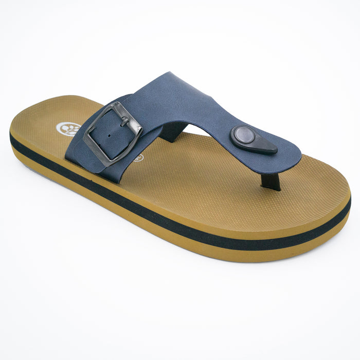 'Deep Ocean Blue', Flips Pods Sandals in T-strap design