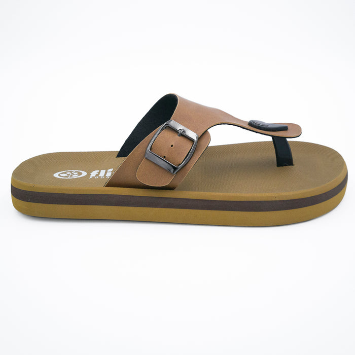 'Tan', Flips Pods Sandals in T-strap design