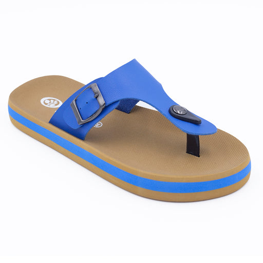 'Azure Blue', Flips Pods Sandals in T-strap design