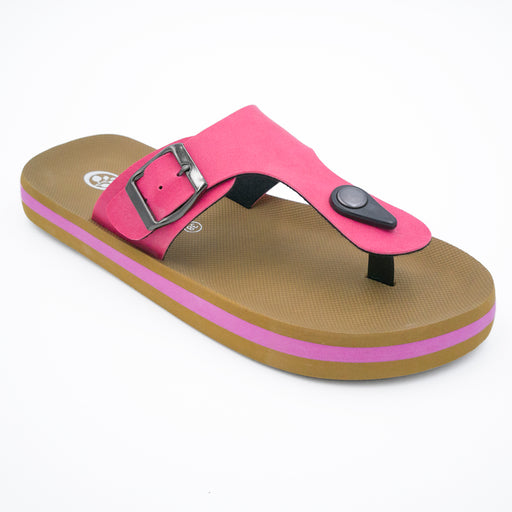 'Bold Pink', Flips Pods Sandals in T-strap design