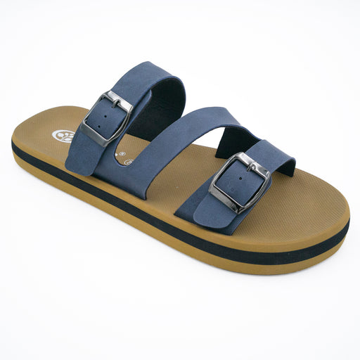 'Deep Ocean Blue', Flips Pods Sandals in Z-strap design