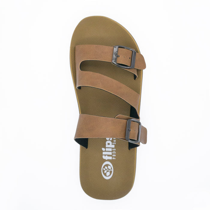 'Tan', Flips Pods Sandals in Z-strap design