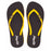 'French Mustard', rubber flip-flops in slim strap design