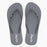 'Dark Grey', rubber flip-flops in slim strap design