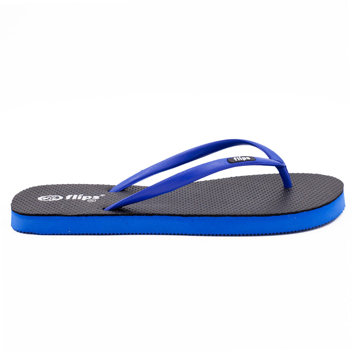 'Midnight Blue', rubber flip-flops in slim strap design