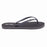 'Carbon Grey', rubber flip-flops in slim strap design