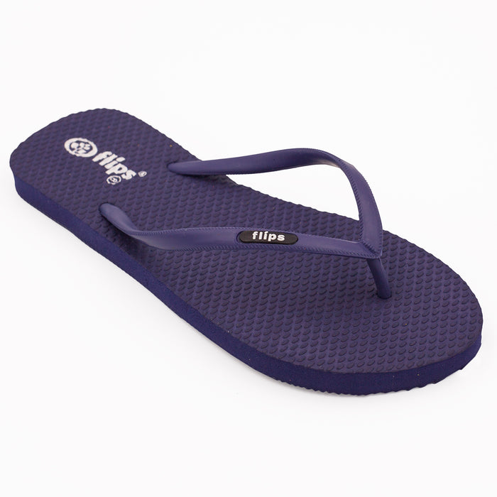 'Classic Navy', rubber flip-flops in slim strap design