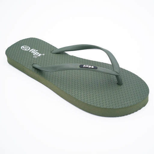 'Forest', rubber flip-flops in slim strap design