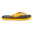 'French Mustard', rubber flip-flops in standard strap design