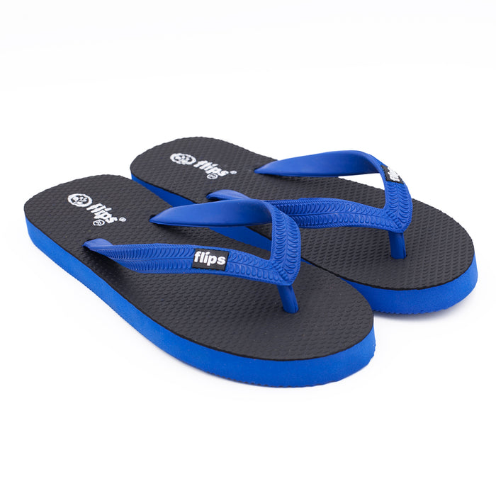 'Midnight Blue', rubber flip-flops in standard strap design