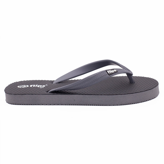'Carbon Grey', rubber flip-flops in standard strap design