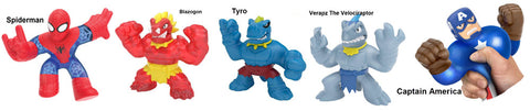 Goo JIT Zu Dino Power Action Figures