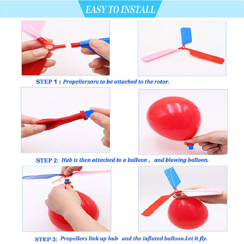 helicopter balloon instructions
