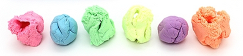 cloud putty six different colours