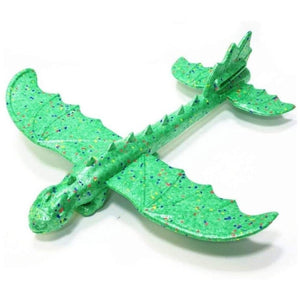 Green Dinosaur Dragon Plane