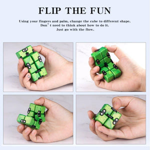 infinity cube green