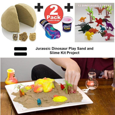 Jurassic Dinosaur Play sand and Slime Kit Project