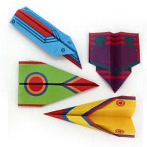 a close up of four different colored kites