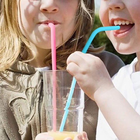 Silicone straw with kids