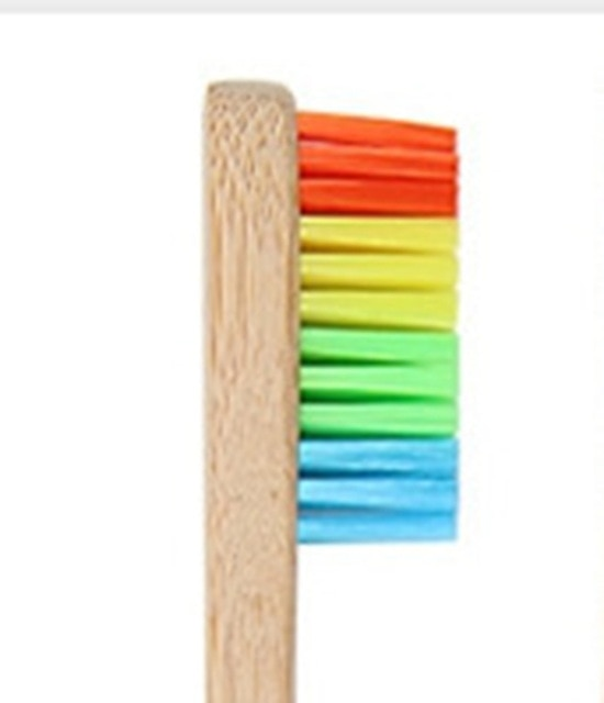 10pcs New Mixed Color Bamboo Toothbrush - Green Bee Store