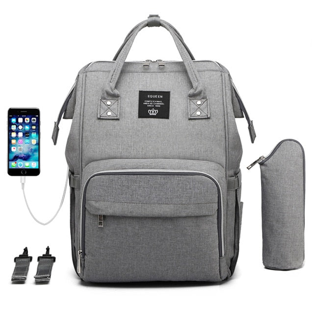 Waterproof diaper bag with USB - Green Bee Store