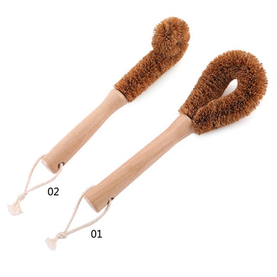 Natural Wooden Long Handle Brush - Green Bee Store