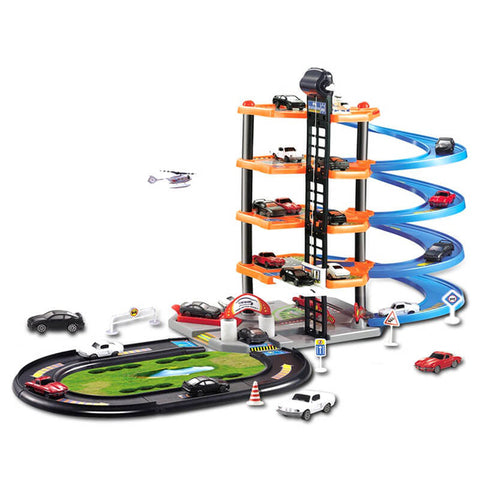 5 Layers DIY Track 3D Car Racing Track Toy Car Parking