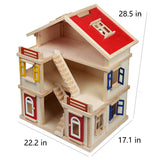 Wooden Dollhouse with Elevator Dream
