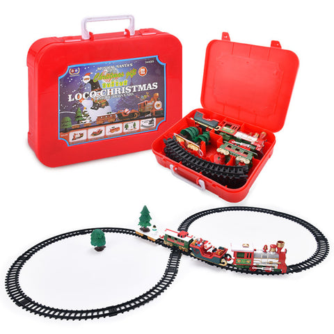 Christmas Train Set with Lights & Sounds Electronic Toys