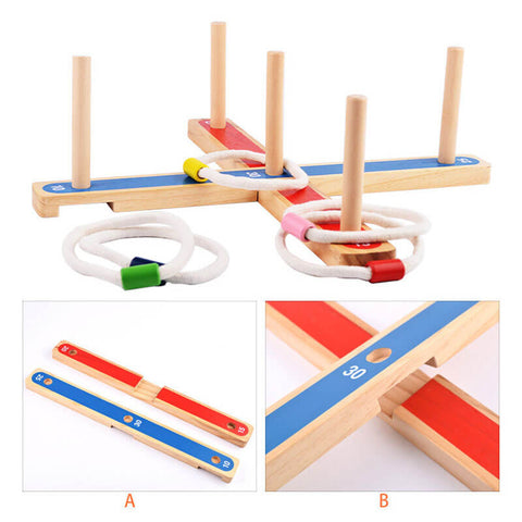 Wooden Ferrule Puzzle Outdoor Interactive Game