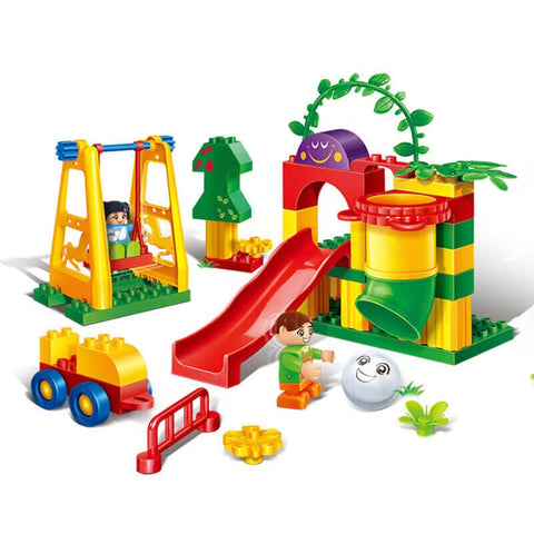 Pipe playground slide building blocks
