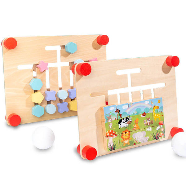 Children's double-sided wooden jigsaw puzzle