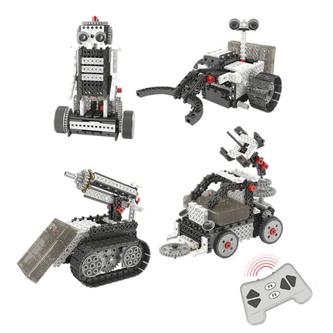 Kids Construction Robot Vehicle Building Kit - Space Exploration Set