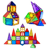 3D color magnetic building tile STEM toys
