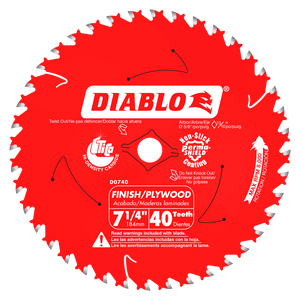 DIABLO 7‑1/4 in. x 40 Tooth Finish Saw Blade