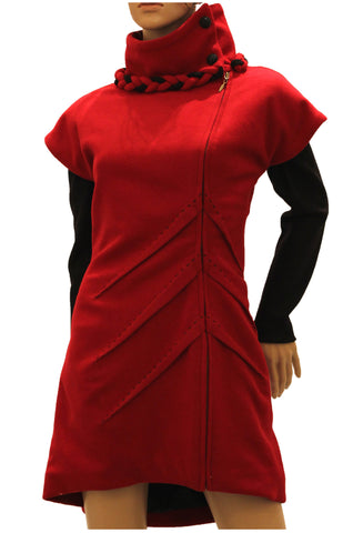 'Lady in Red' Coat Dress