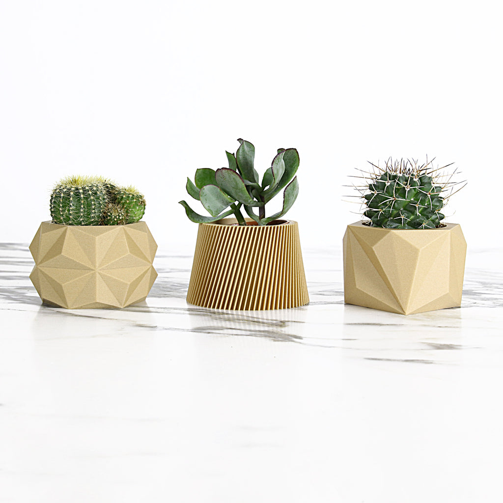 Set of 3 Wood Planters #1