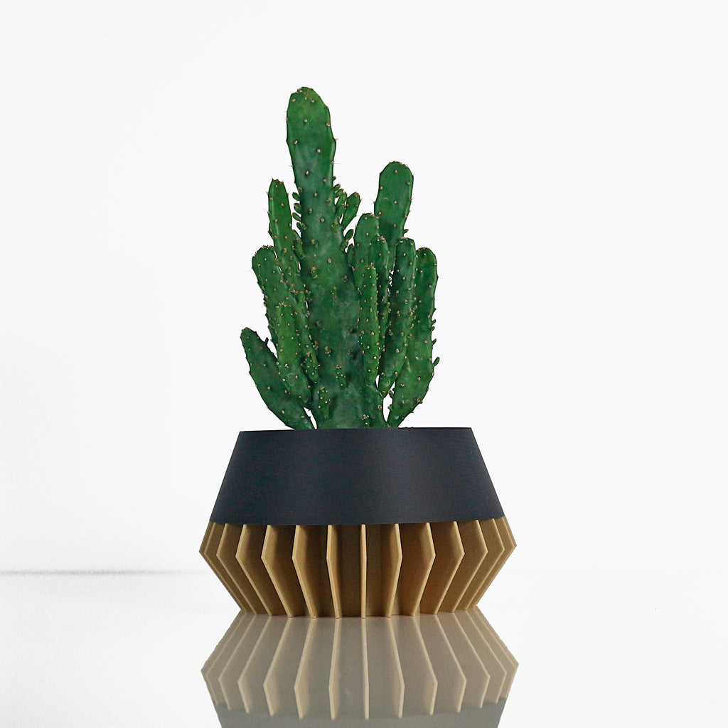 Big Planter ° SUNA ° . Wood / Matte Black